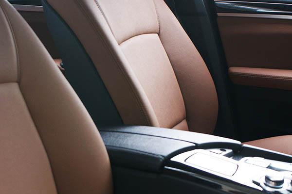 BMW 5 serie Alba eco-leather kaneelbruin
