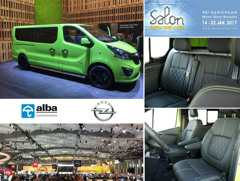 Alba automotive schittert tijdens salon brussel 2017 for Interieur opel vivaro