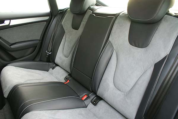 Audi S5 Buffalino Leder Zwart Alcantara Grijs Achterbank