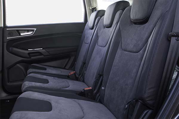 Ford S-Max Buffalino Leder Zwart Alcantara Grijs Achterbank