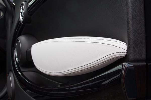 MINI Cooper Alba eco-leather Zwart Wit Deurpaneel