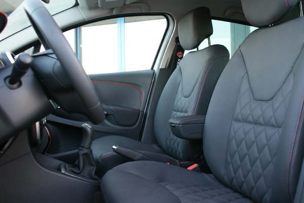 Renault Clio Buffalino Leder Antraciet Diamond Stiksel Voorstoelen