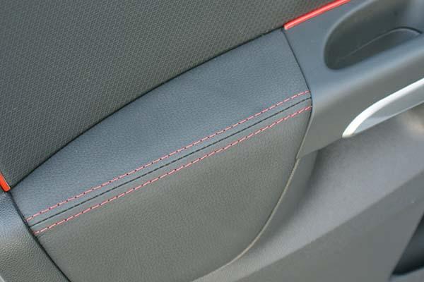 Renault Clio Buffalino Leder Antraciet Diamond Stiksel Deurpaneel