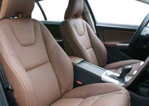 Volvo V60 Buffalino Leder Nougat Bruin Voorstoelen