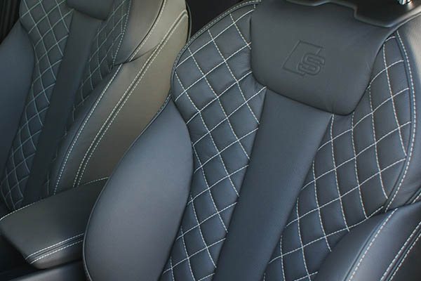 Audi a4 buffalino leather black with diamond stitching s for Lederen interieur golf 4